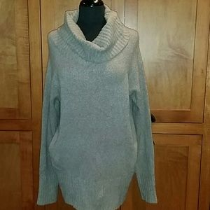 New French Connection Taupe Cowl Sweater Small